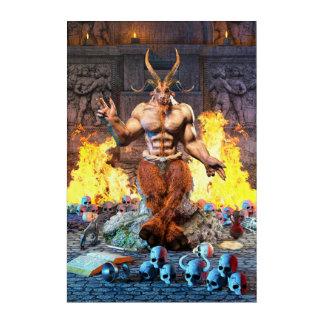 Art Mural En Acrylique Chèvre sabbatique Baphomet satanique