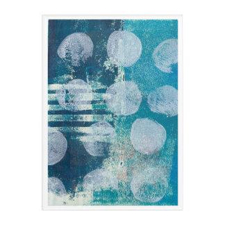 Art Mural En Acrylique Copie foncée abstraite de la turquoise 170255 de