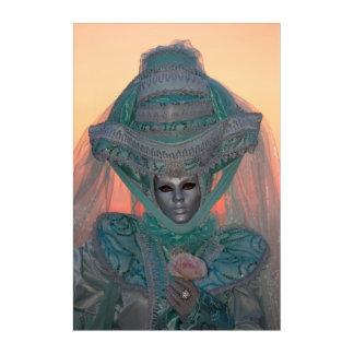 Art Mural En Acrylique Costume bleu de carnaval, Venise