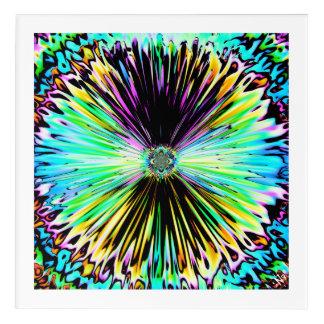 Art Mural En Acrylique Croquis psychédélique coloré d'une fleur 3