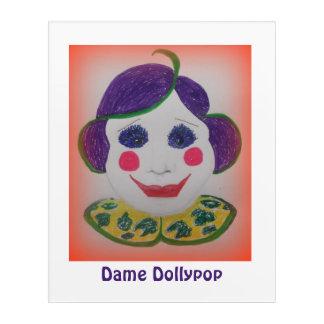 Art Mural En Acrylique Dame Dollypop