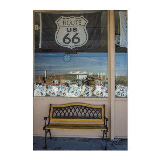 Art Mural En Acrylique Devanture de magasin de l'itinéraire 66