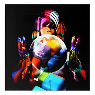 Art Mural En Acrylique Diversité dans le lieu de travail ou le local
