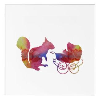 Art Mural En Acrylique Écureuils
