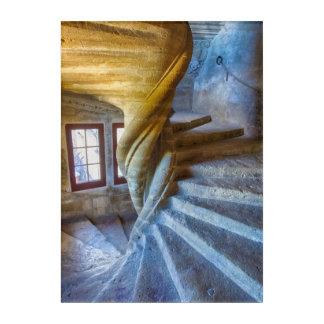 Art Mural En Acrylique Escalier en spirale de château, France