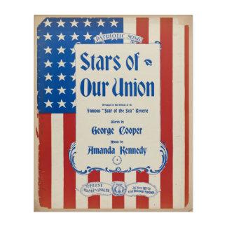 Art Mural En Acrylique Étoiles de notre union