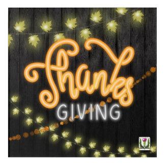 Art Mural En Acrylique FD'sFall/néon 53086a de thanksgiving