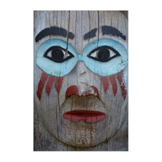 Art Mural En Acrylique Fermez-vous d'un totem découpé