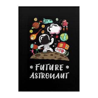 Art Mural En Acrylique Futur astronaute, l'espace, planètes, Rocket.