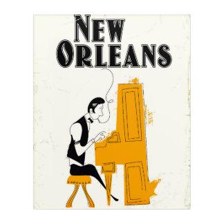 Art Mural En Acrylique Honky Tonk de la Nouvelle-Orléans