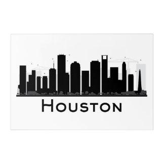 Art Mural En Acrylique Houston, le Texas horizon noir et blanc de | de