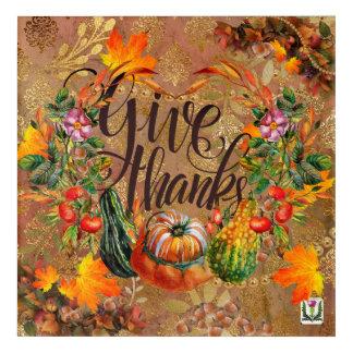 Art Mural En Acrylique Illustration 53086 du thanksgiving du plaisir de