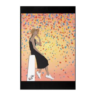 Art Mural En Acrylique Jamie Kan - confettis de coucher du soleil