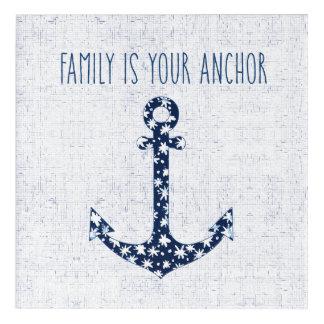 Art Mural En Acrylique La famille nautique de la citation | est votre