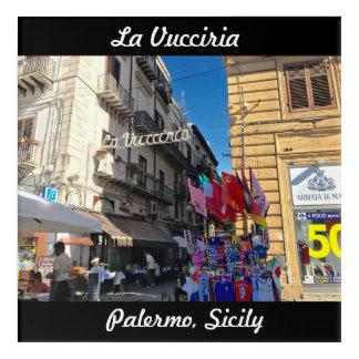 Art Mural En Acrylique La Vucciria (chaos) à Palerme, Sicile