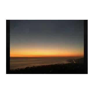 Art Mural En Acrylique Laguna Beach, panneau de coucher du soleil de CA