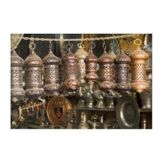 Art Mural En Acrylique Lanternes de cuivre au marché