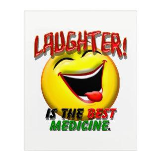 Art Mural En Acrylique Le rire est la meilleure médecine