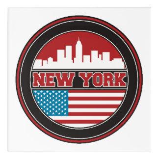 Art Mural En Acrylique L'horizon | Etats-Unis de New York diminuent