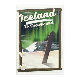 Art Mural En Acrylique L'Islande à faire du surf des neiges