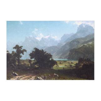Art Mural En Acrylique Luzerne de la Suisse, lac par Albert Bierstadt