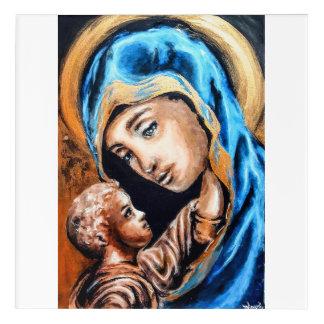 Art Mural En Acrylique Madonna et enfant d'or