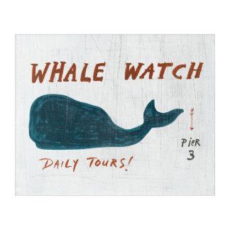 Art Mural En Acrylique Montre côtière de baleine de l'art |