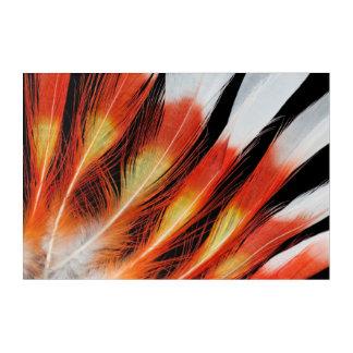 Art Mural En Acrylique Motif de plume de cacatoès