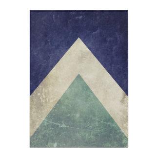 Art Mural En Acrylique Motif vintage de triangle
