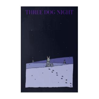 Art Mural En Acrylique Nuit de trois chiens