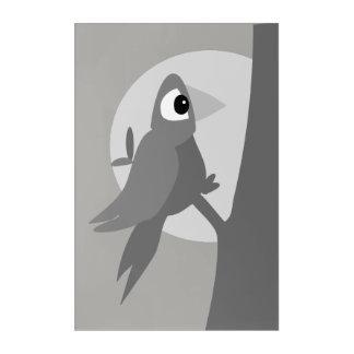 Art Mural En Acrylique Oiseau seul la nuit