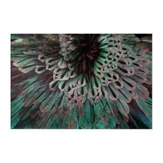 Art Mural En Acrylique Oiseau superbe d'abrégé sur plume de paradis
