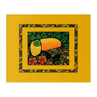 Art Mural En Acrylique Oiseau tropical coloré exotique de toucan