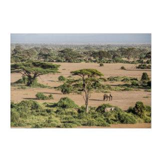 Art Mural En Acrylique Paysage africain avec l'éléphant