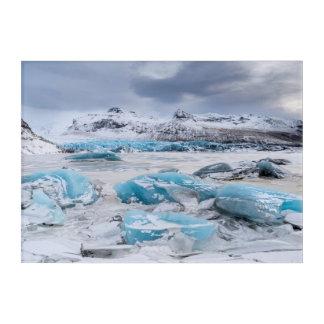 Art Mural En Acrylique Paysage de glace de glacier, Islande