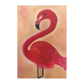 Art Mural En Acrylique Peinture rose de flamant
