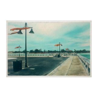Art Mural En Acrylique Pilier de chevalier d'Edouard B à la plage de