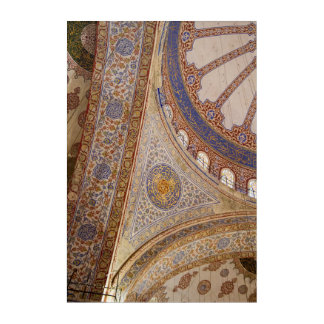 Art Mural En Acrylique Plafond bleu de mosquée