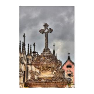 Art Mural En Acrylique Plan rapproché croisé de cimetière, Portugal