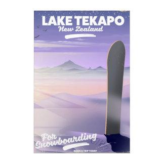 Art Mural En Acrylique réservez un lac Tekapo Nouvelle Zélande de voyage