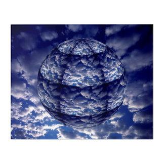 Art Mural En Acrylique Sphère abstraite du nuage 3D