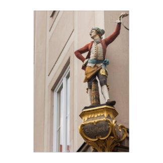 Art Mural En Acrylique Statue flamboyante de bâtiment