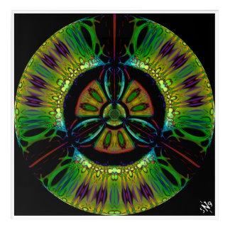 Art Mural En Acrylique Symbole psychédélique de bio-risque (ou quelqu'u