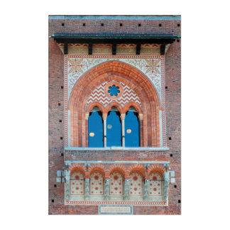 Art Mural En Acrylique Terre d'architecture de l'Italie Milan de fenêtre
