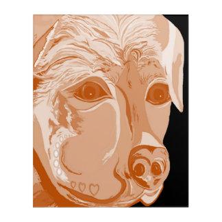 Art Mural En Acrylique Tons de sépia de rottweiler