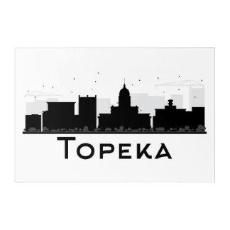Art Mural En Acrylique Topeka, le Kansas horizon noir et blanc de | de