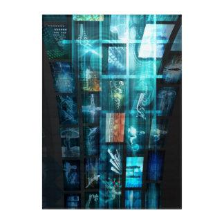 Art Mural En Acrylique Train de données de données d'Internet Digital de
