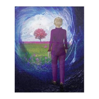 Art Mural En Acrylique Tunnel à la vie éternelle