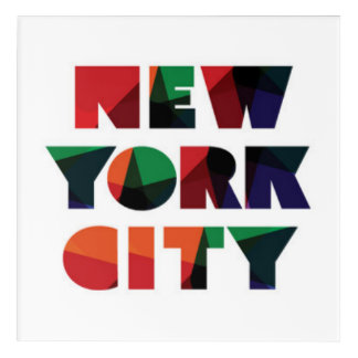 Art Mural En Acrylique Typographie audacieuse de New York City |