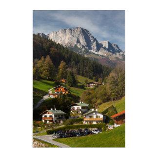 Art Mural En Acrylique Village de Maria Gern, Bavière